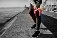 39060383 - knee injury - sports running knee injuries on man. close up of legs, muscle and knee outdoors. male fitness athlete runner with pain from sprain knee.